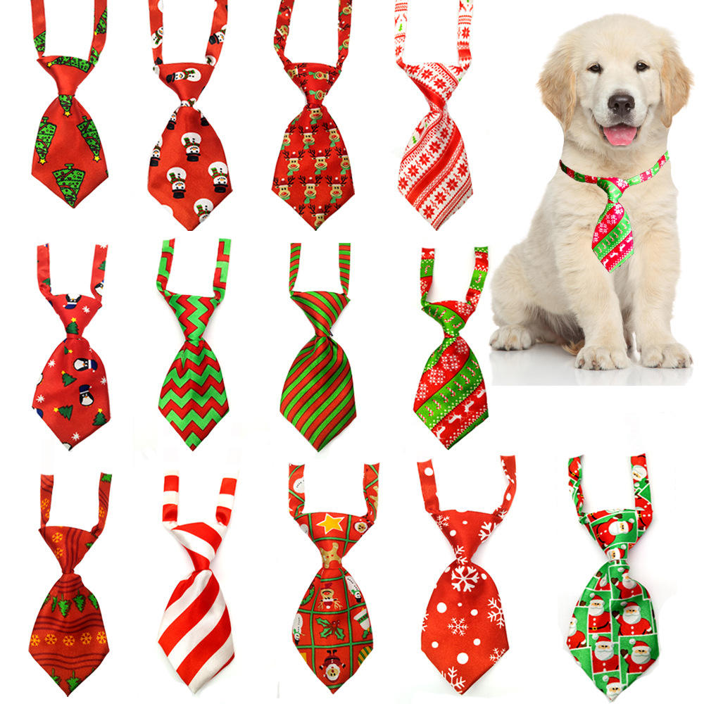 Wholesale Adjustable Pet Ties Dog Collar Neck Tie Dog Christmas Bow Ties