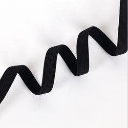 Custom 3/5/8/10/12 mm Polyester Narrow Black And White Elastic Band Webbing For Garment Underwear