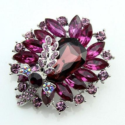 Fashion Rhinestone Brooch Wedding Garment crystal brooch Pin women Accessories Brooches DAE022