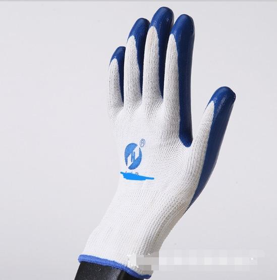 10G heavy duty / butyl rubber coated work hand gloves