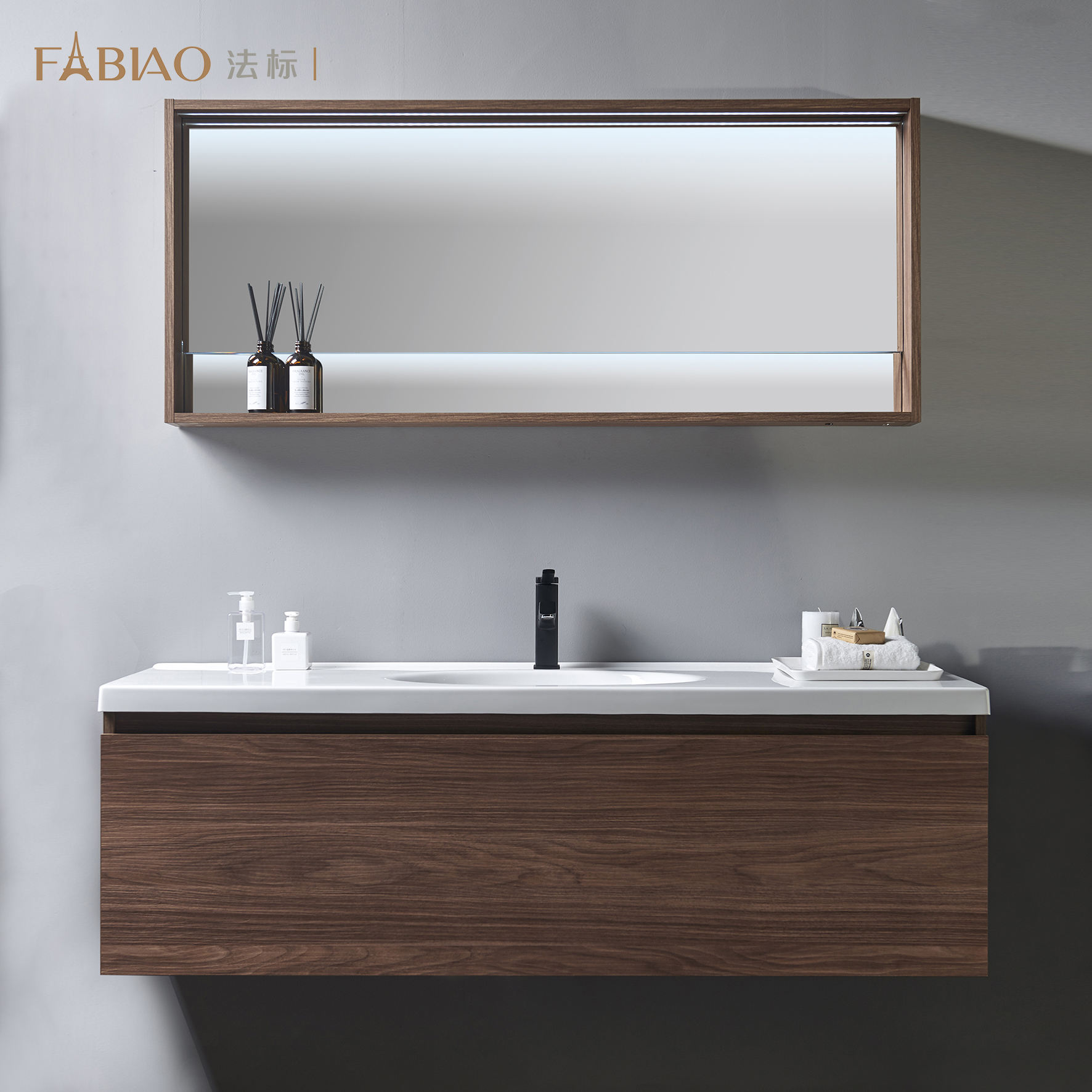 Modern popular large size high quality bathroom cabinet vanity
