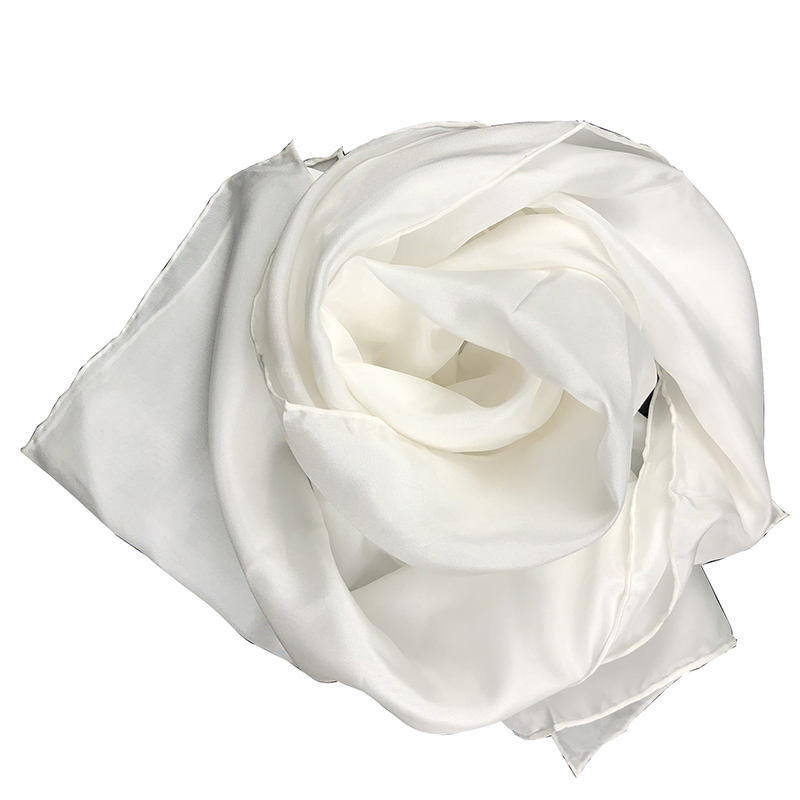 100% Silk Plain White 8mm Habotai Silk Scarves for Painting