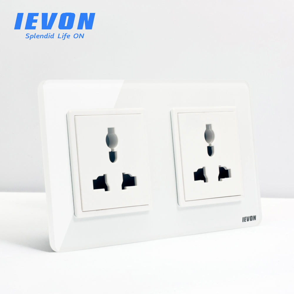 Ievon Eu Standaard Dubbele 3 Pin Multifunctionele Stopcontact <span class=keywords><strong>Outlet</strong></span>