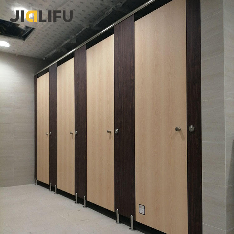Wood commercial bathroom cubicle stall walls indoor partitions