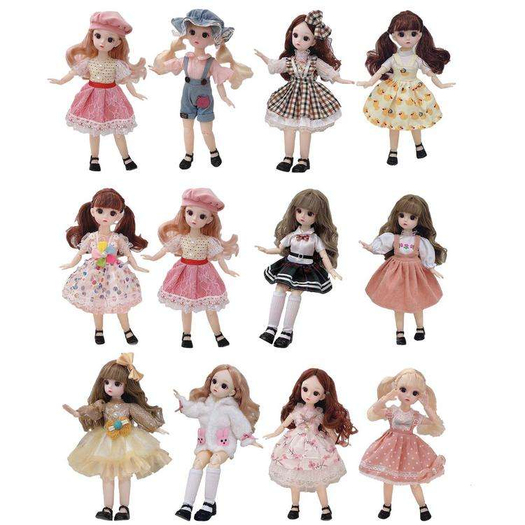 Princess Doll Realistic Figure Model Toy for Gifts 3D Eyes Girls Toys BJD Makeup Doll Fashion Birthday Gift