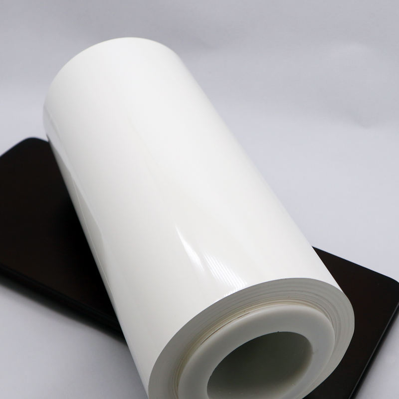 Label Polyester Film White PET thickness from 12 micron to 100 micron for printing and lamination