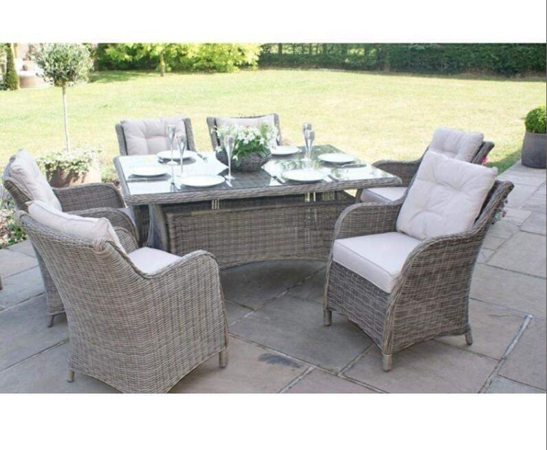 Outdoor garden sets aluminum patio rattan dining sets furniture