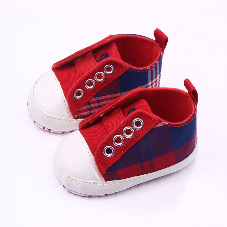 Good quality mix-colors with lattice design newborn baby shoes for boys