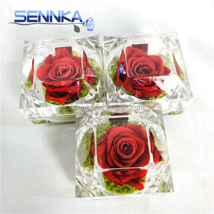 Wholesale High Quality Preserved Everlasting Ring Box Preserved Rose For Wedding
