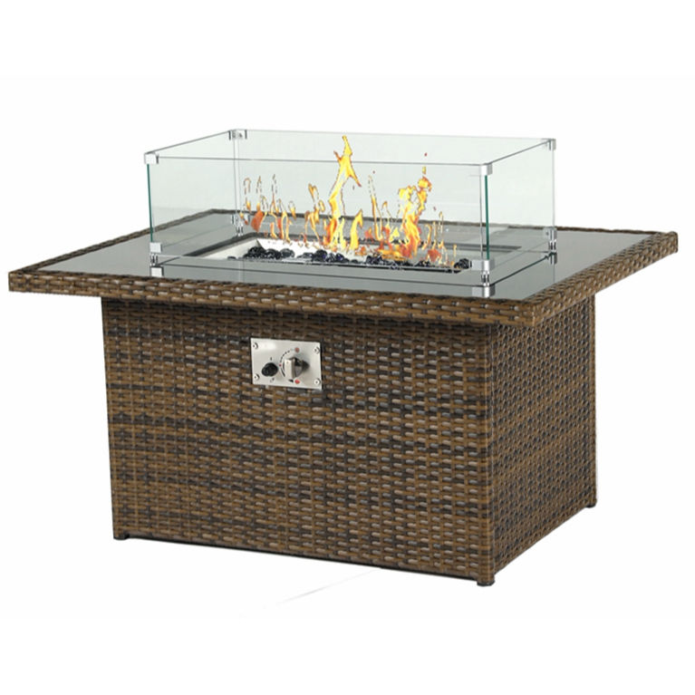 wicker fire pit table with grill barbecue fire table outdoor gas