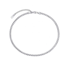 Wholesale Silver Stainless Steel Simple Design Chain Necklace, Choker Necklace Jewelry