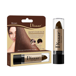 Disaar Hair Care Cover White Lasting Fast Pen Disposable Temporary Natural Hair Dye Stick for Hair Brown Color