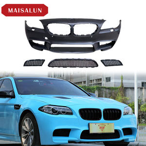 For BMW 5 Series F10 F18 M5 Style Conversion 2012-2017 PP plastic Car Front Bumper Rear Bumper Side Skirts Car Body Kit