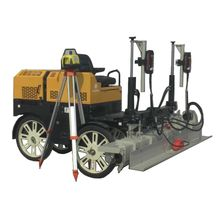 Concrete laser leveling screed machine for construction work