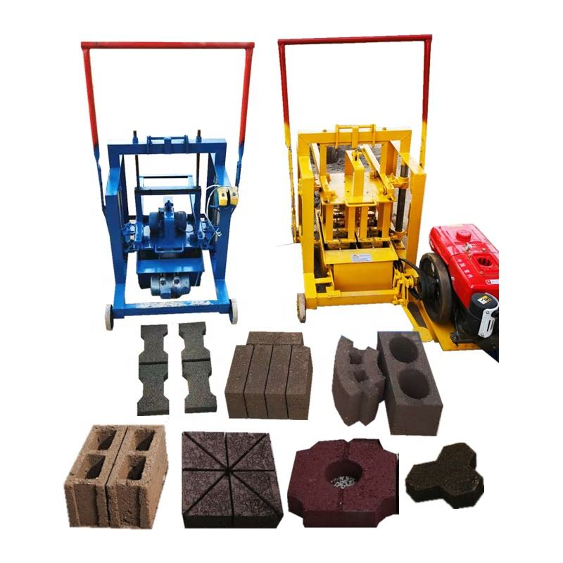 Australia Manual Small Diesel Vibrating Soil Hollow Cement Laying Block Concrete Brick Making Machine Price Japan