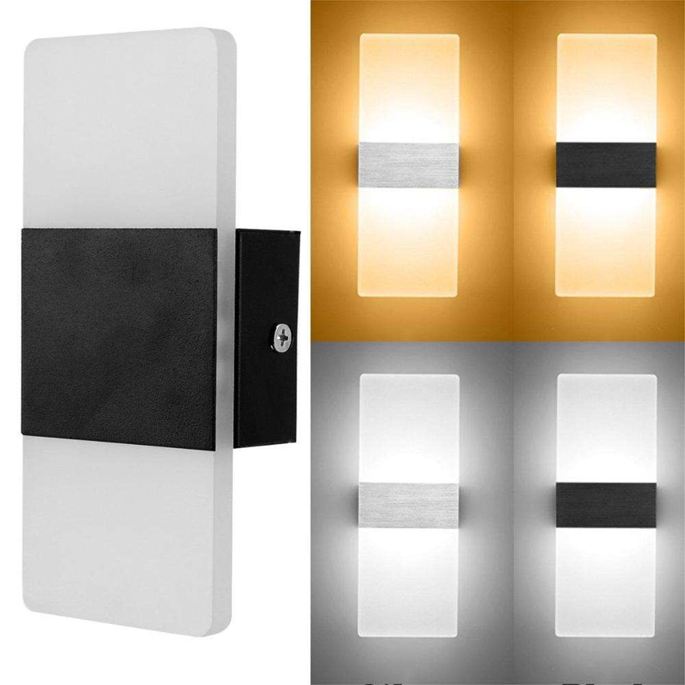 Modern LED Wall Light Up Down Lighting Cube Sconce Lamp Fixture Mount Indoor Outdoor Home Room Bedroom Hotel Lighting Decoration