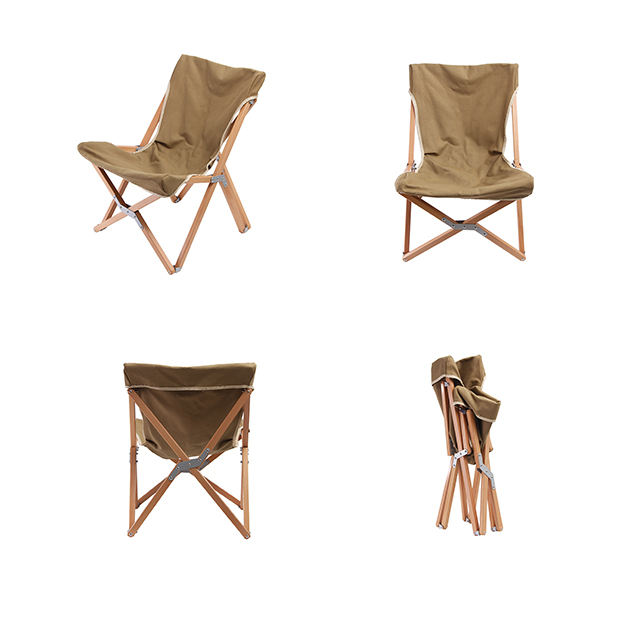 Solid Wood Butterfly Chair Portable Outdoor folding wooden chair camping Lightweight folding beach chair