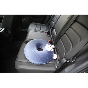 Factory Price Super Soft Velour Non-slip Polyester Memory Foam Cushion car seats