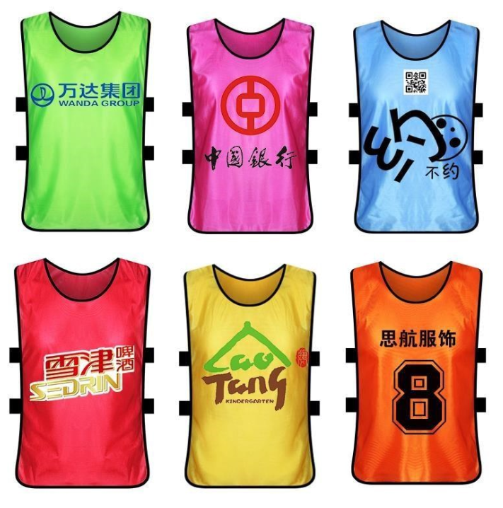 Custom gold tank top soccer football training vest bibs 2019