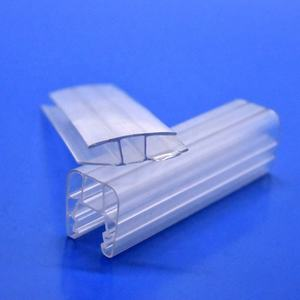 Clear custom made plastic h type polycarbonaat pc blad profielen extrusie