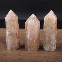 High quality sakura agate point natural quartz crystal tower for wholesale