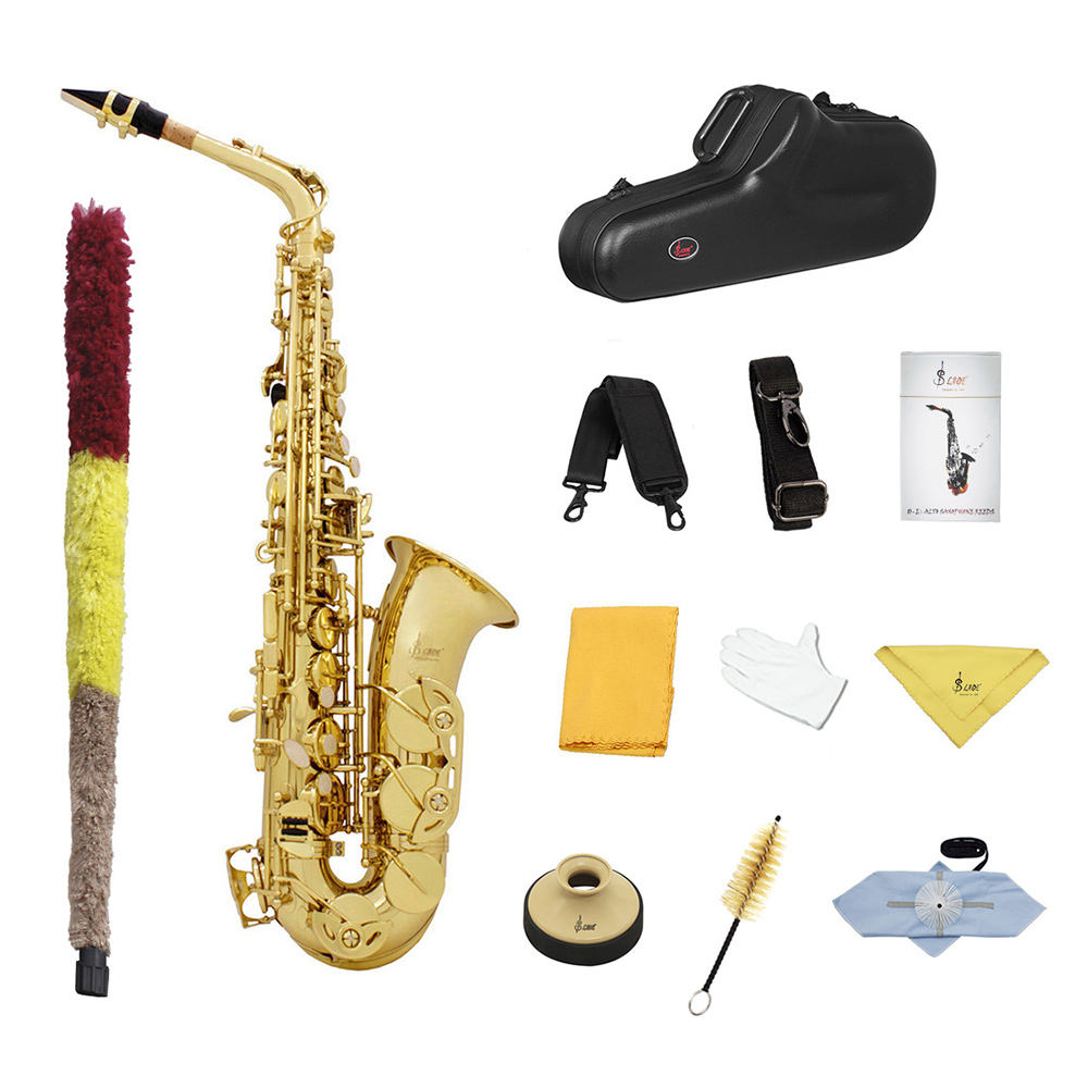 SLADE suit high quality Eb nickel plated gold silver professional metal wind instruments alto saxophone