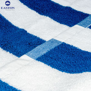 Wholesale luxury Five star hotel quality White and blue stripes 100% cotton beach towel