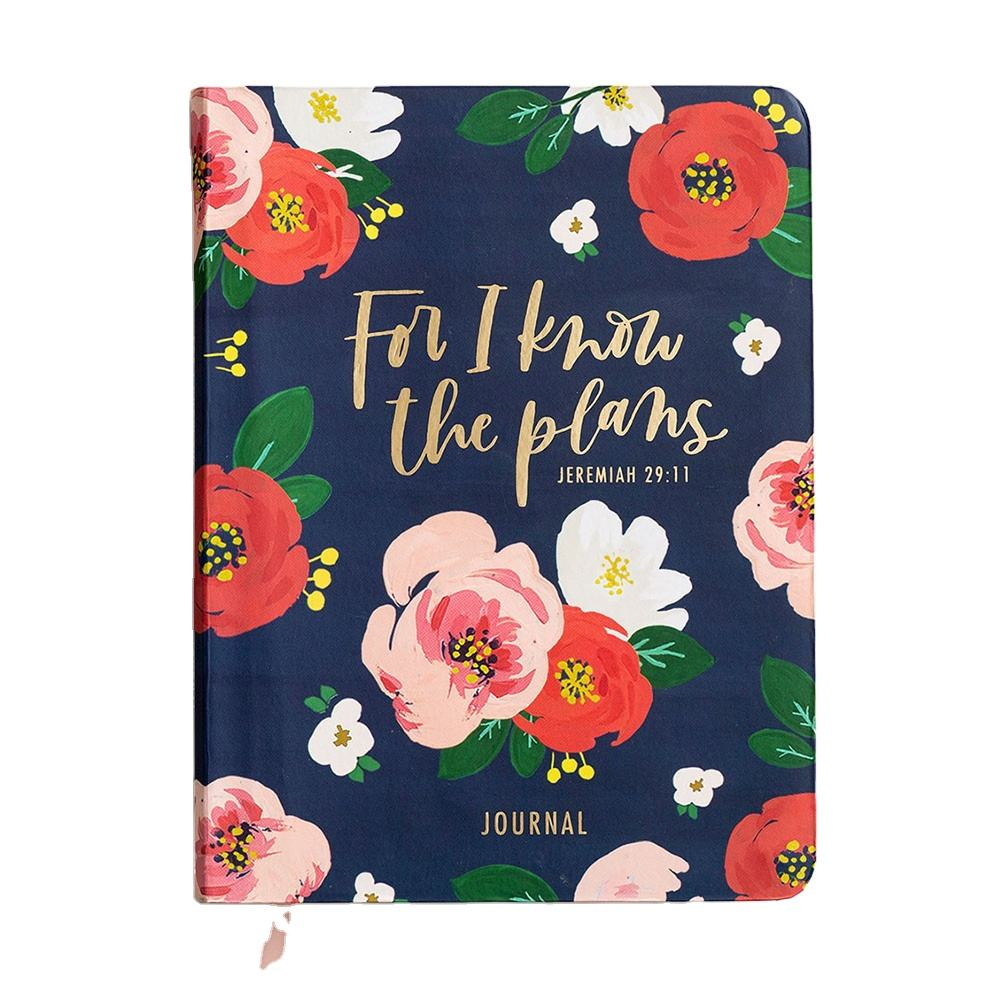 Personalized Floral Printed A5 Christian Journal Agenda Hardcover 200 Page Notebook Diary