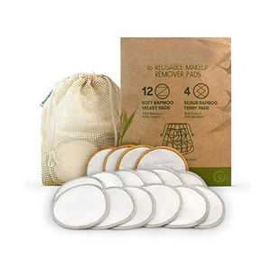 China Factory Eco Friendly Reusable Bamboo Cotton Makeup Remover Pads And Rounds