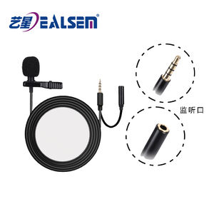 Smartphone Lavalier Clip Wired Microphone For Iphone IOS Android