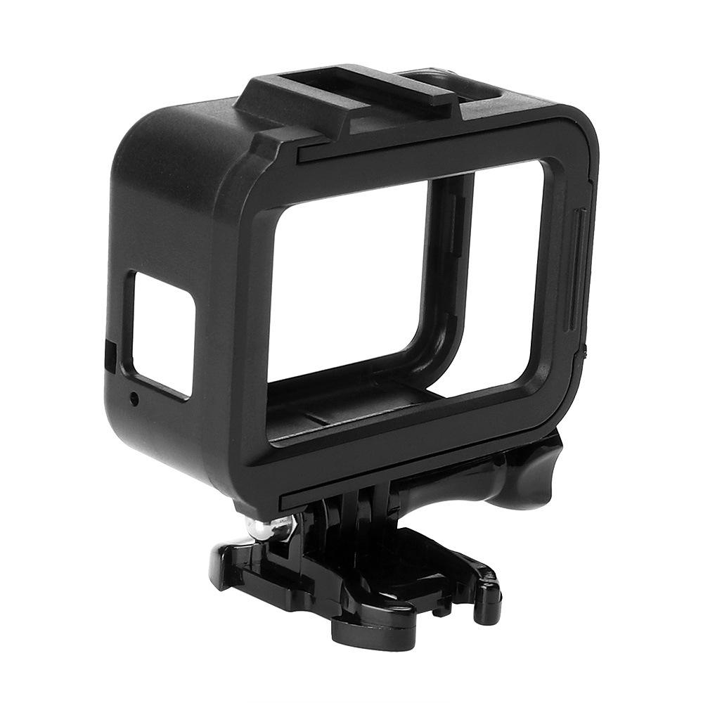 Frame Mount Housing Case with Lens Cover for GoPro Hero 8 Black Camera - Strong Structure and All Slots Fully Accessible
