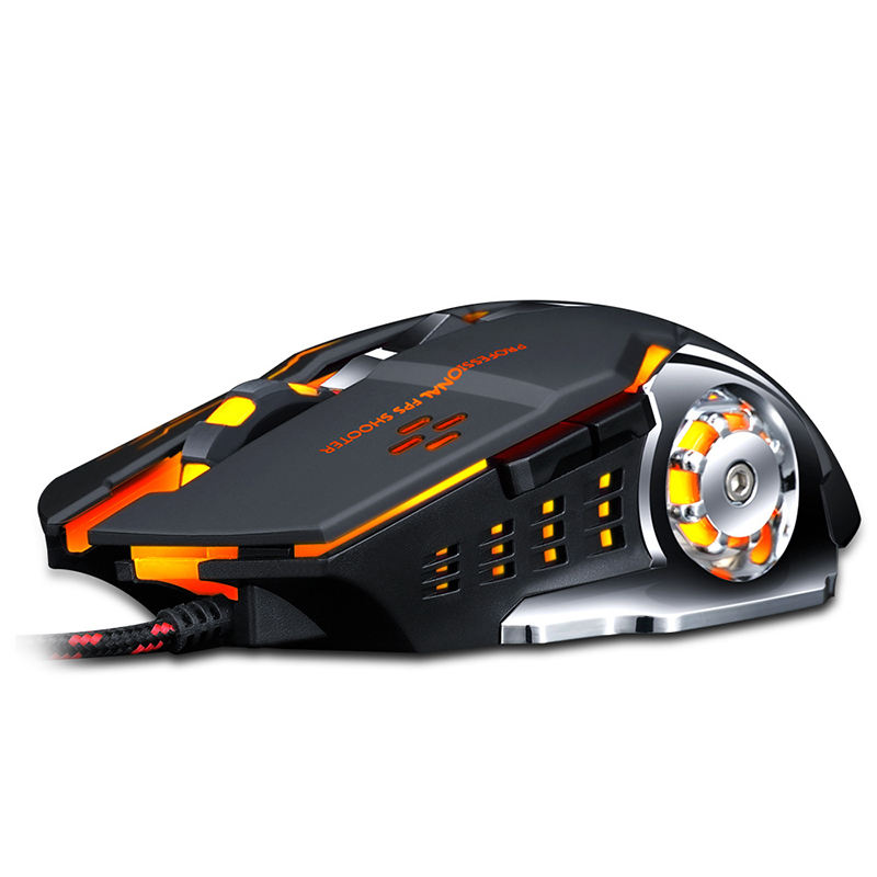 Ergonomico Cromatica V6 Meccanica Wired Gaming <span class=keywords><strong>Mouse</strong></span> <span class=keywords><strong>Del</strong></span> Computer <span class=keywords><strong>Mouse</strong></span> Ottico 3200PDI Per PC Gamer