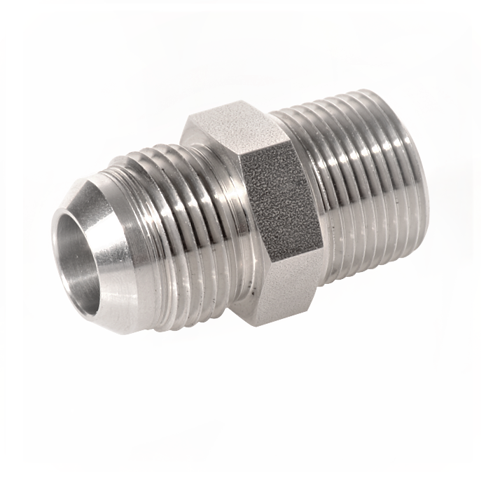 Stainless Steel or Carbon Steel 37 Degree Flared Tube Fittings Male Connector