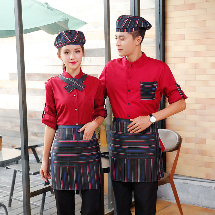 Chef Cook Uniform Shirts Food Service Restaurant Kitchen Overalls Professional Catering Jackets Cafe Shop Barber Waiter Uniform