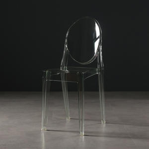 Durable Modern Hotel Furniture Ghost Chair Transparent Crystal Plastic Chair For Hotel Furniture