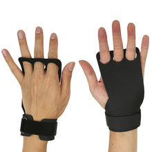 Anti Slip Fitness Hand Grips with Three Finger Holes Gymnastics Hand Guard for Pull Ups Cross Training