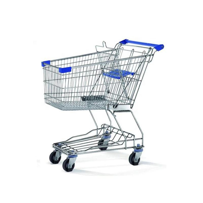 Hot sale style steel material 60L high capacity Hand trolley for shop