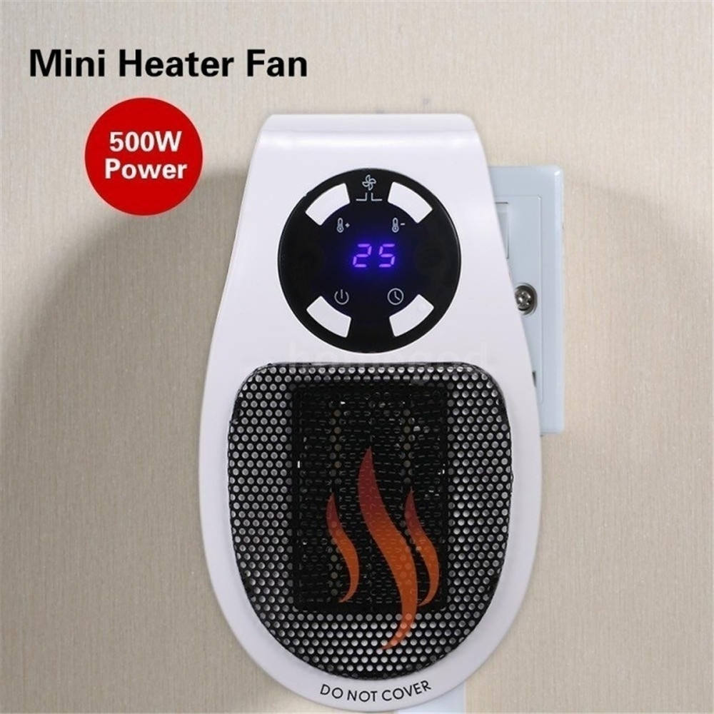 500w Personal Space Room PTC Ceramic Quick Heating Portable Mini Desktop Electric Fan Heater For Home Office