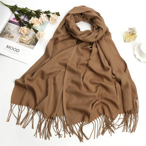 Manufacture wholesale winter cheap solid color pashmina scarves in bulk cashmere scarf women shawl pashmina