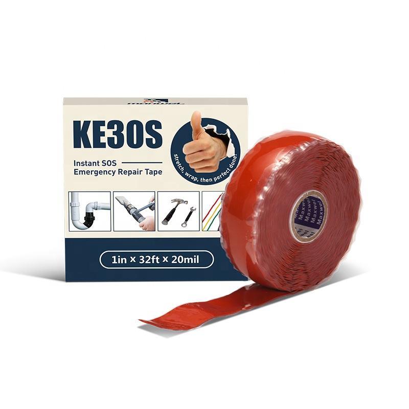 Silikon Klebeband Wasserdichtes Tape Gummiklebstoff Reparatur-Band Selbstklebendes Bindungs Rettungs wei/ß