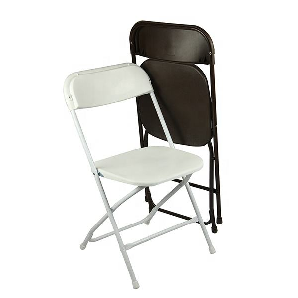 Factory direct sales cheap event plastic chairs for sale and chair folding outdoor with metal legs