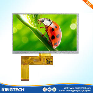 Aangepaste 24-Bit Parallelle Rgb Interface 7 Inch Lcd-scherm 800X480 Lcd Display