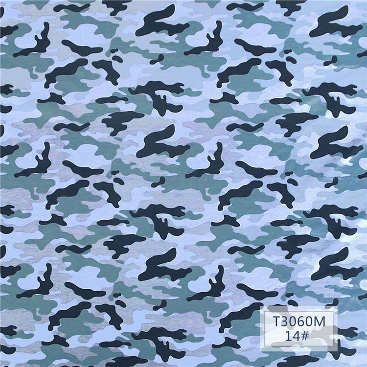 One Side Fleece Camouflage Printed Fleece Knit Fabric flannel Knit Fabric