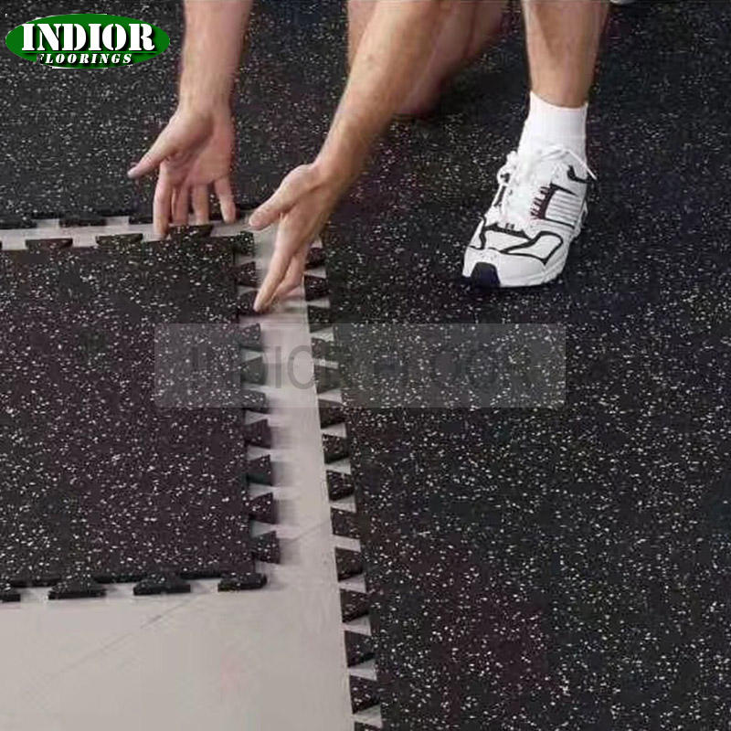 Good Price 1m*1m 8mm Soft And Colorful Gym Equipment Sound-insulating Anti-aging Interlocking Waterproof Gym Rubber Floor Tiles
