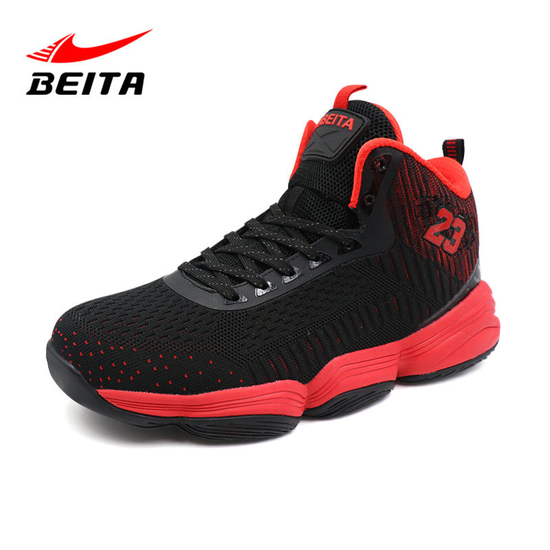 2019 heiße Herrenmode Fly Weave Sneakers High Top Basketballs chuhe