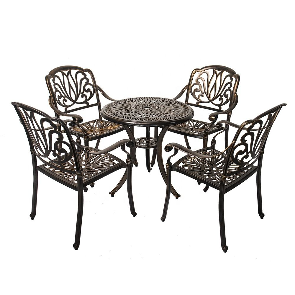 Outdoor Furniture Cast Aluminum furniture tables & chairs For Garden Bistro Chairs outdoor table chair