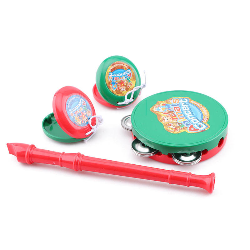 Preschool educational baby hand rattle drum rock musical instrument toy play set
