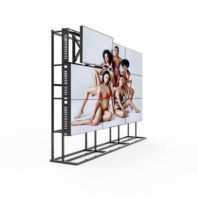 Cheap price 49 inch indoor meeting seamless 3x3 lcd video wall player