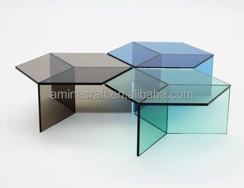 Amina Craft acrylic furniture/colorful acrylic table/coffee table