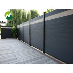 Beautiful decorative wpc composite garden fence